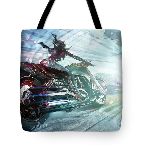 Holy Crap That Is Fast. Tote Bag by Lawrence Christopher