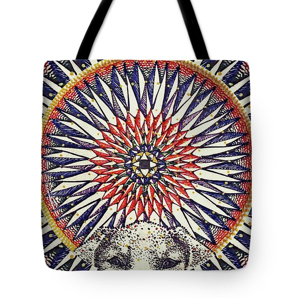 Tote Bag featuring the painting Holy Dog by Kym Nicolas