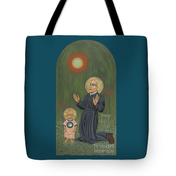 Holy Father Pedro Arrupe, Sj In Hiroshima With The Christ Child 293 Tote Bag