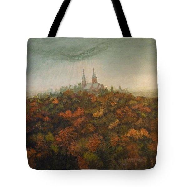 Holy Hill Rain Storm Tote Bag