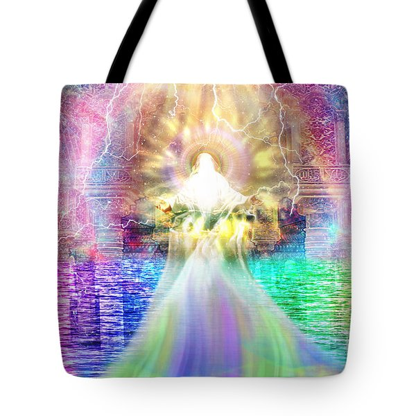 Tote Bag featuring the digital art Holy Holy Holy by Dolores Develde