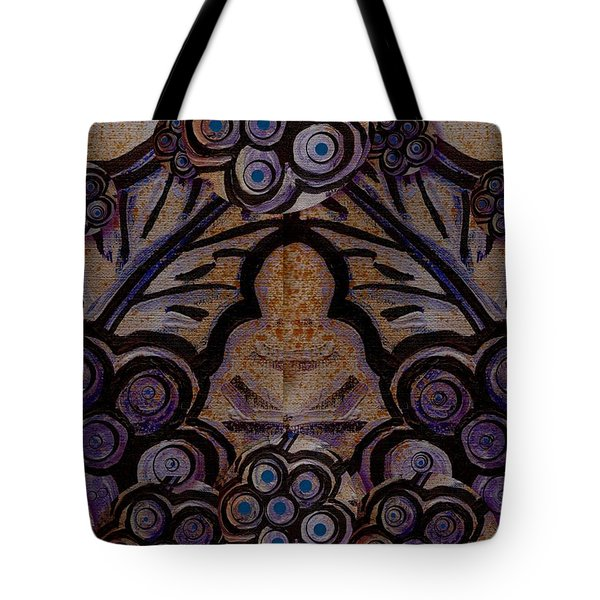 Holy In Peace And Acryl Tote Bag by Pepita Selles