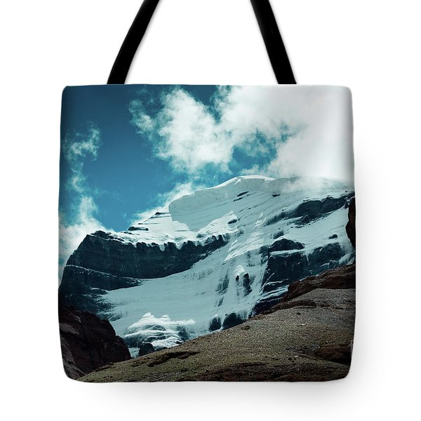 Holy Kailas West Himalayas Tibet Yantra.lv Tote Bag