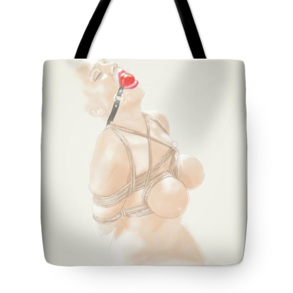 Tote Bag featuring the mixed media Holy Light by TortureLord Art