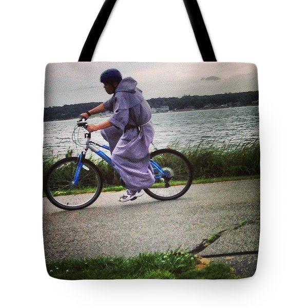 Holy Man Going For A Spin  Tote Bag