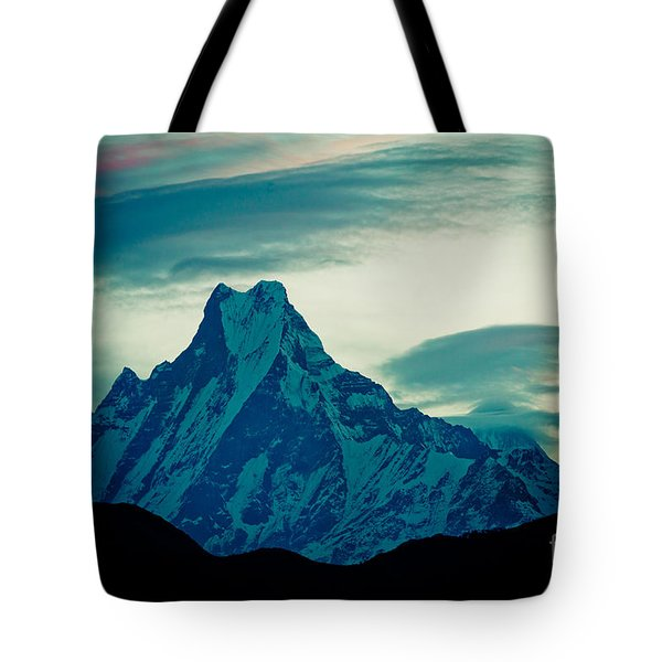 Holy Mount Fish Tail Machhapuchare 6998m Tote Bag