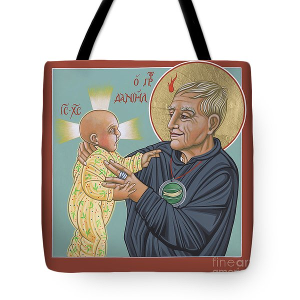 Tote Bag featuring the painting Holy Prophet Daniel Berrigan 291 by William Hart McNichols