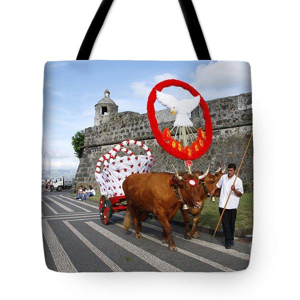 Holy Spirit Festivities Tote Bag by Gaspar Avila