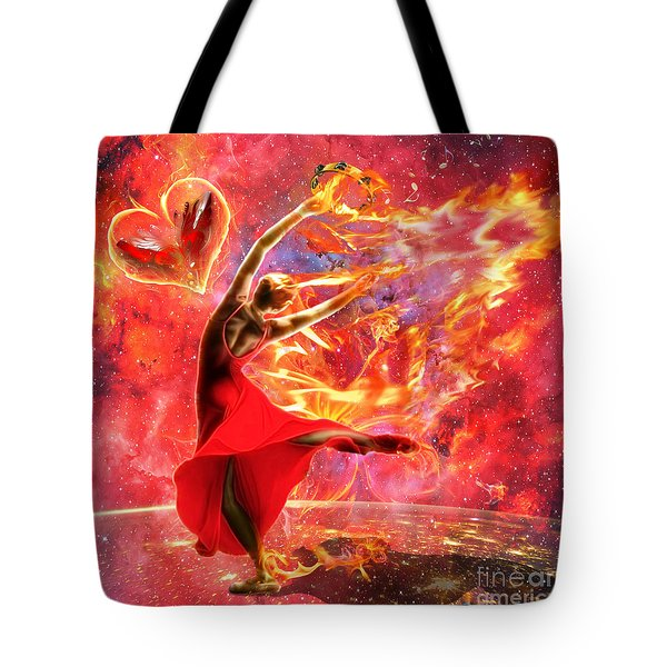 Holy Spirit Fire Tote Bag