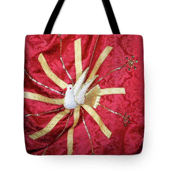 Holy Spirit Flag Tote Bag by Gaspar Avila
