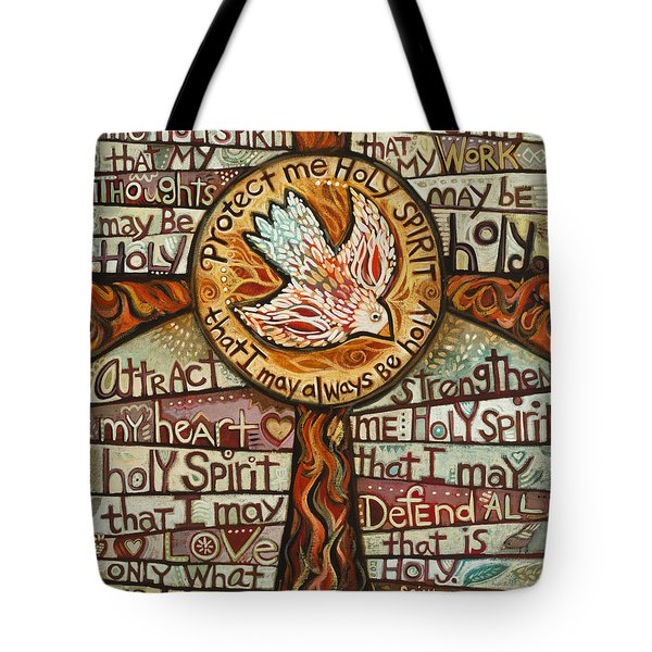 Holy Spirit Prayer By St. Augustine Tote Bag