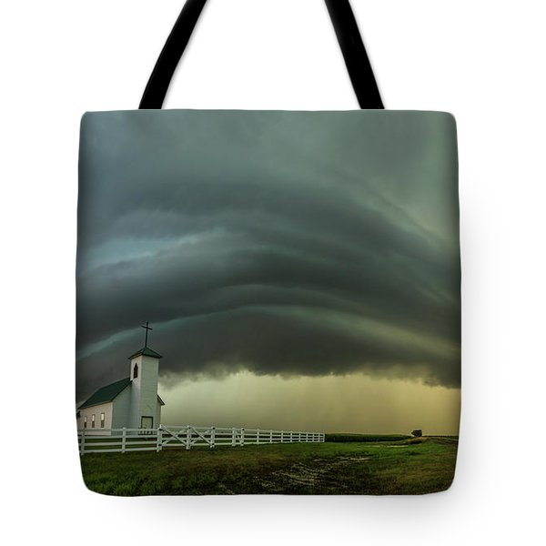 Tote Bag featuring the photograph Holy Supercell  by Aaron J Groen