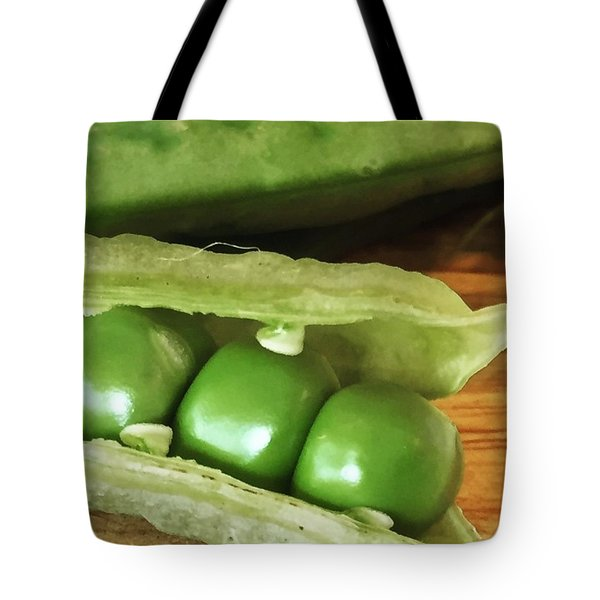 Peas Tote Bag by Nancy Ingersoll