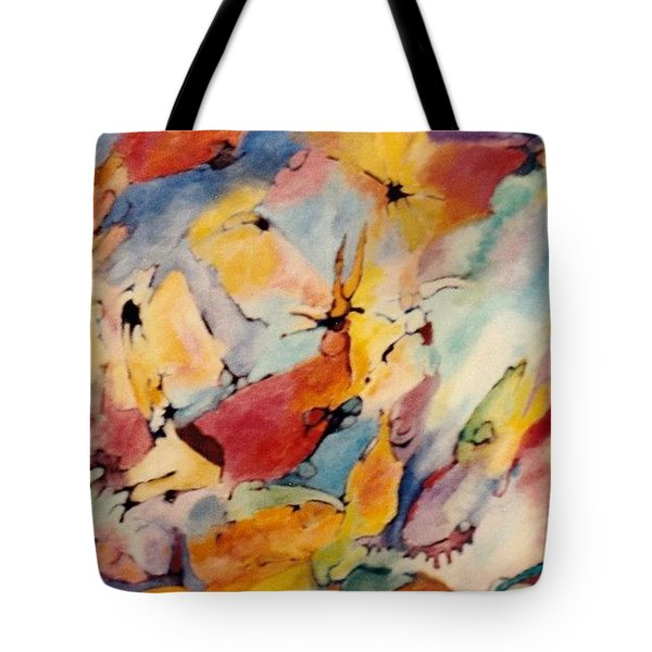Homage A Kandinsky Tote Bag by Bernard Goodman