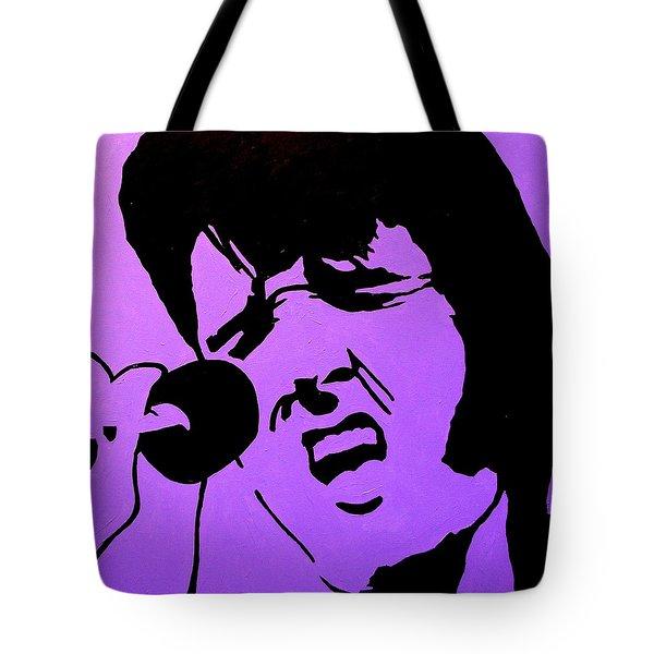Homage To Elvis Tote Bag by John  Nolan