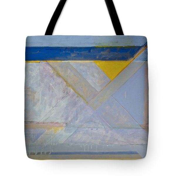 Tote Bag featuring the painting Homage To Richard Diebenkorn's Ocean Park Series  by Cliff Spohn