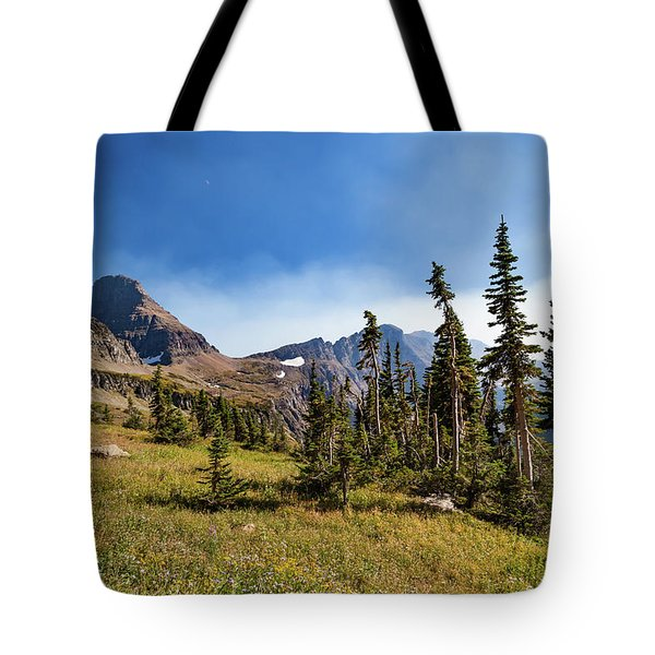 Tote Bag featuring the photograph Homage To The Mountains  by Lon Dittrick