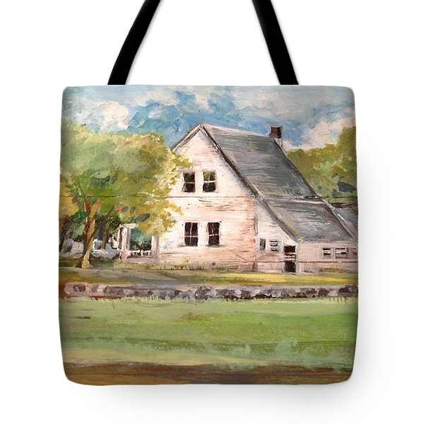 Tote Bag featuring the painting Home Again by Linda Shackelford
