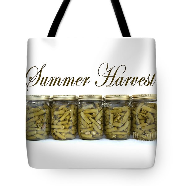 Home Canned Green Beans Summer Harvest Tote Bag by Nature Scapes Fine Art