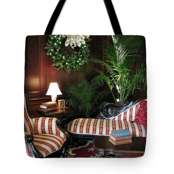 Home For The Holidays Tote Bag by Angela Davies