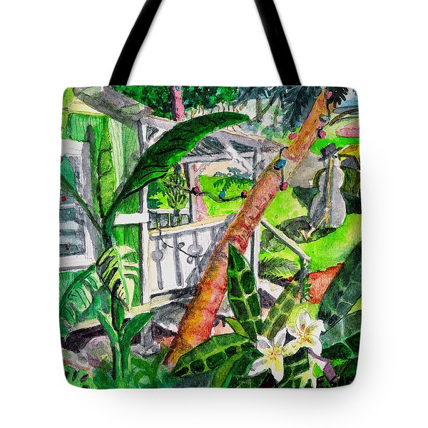 Tote Bag featuring the painting Home For The Holidays by Eric Samuelson