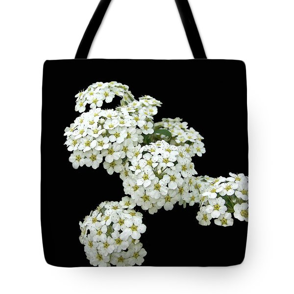 Home Grown White Flowers  Tote Bag