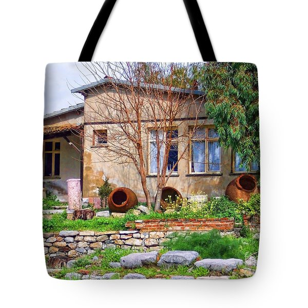 Tote Bag featuring the photograph Home In Greece by Roberta Byram