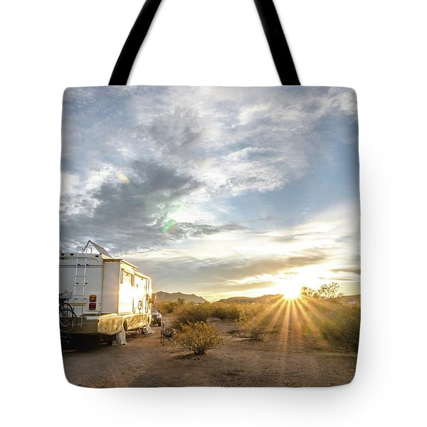 Tote Bag featuring the photograph Home In The Desert by Margaret Pitcher