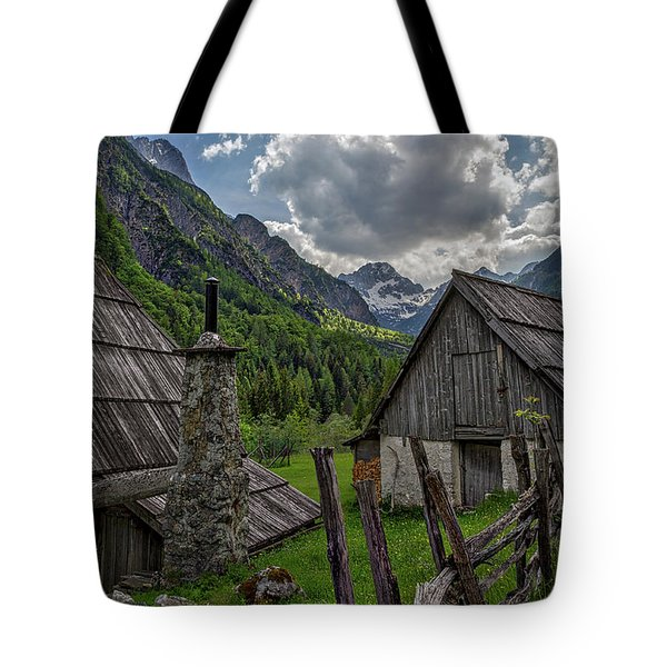 Tote Bag featuring the photograph Home In The Slovenian Alps #2 by Stuart Litoff
