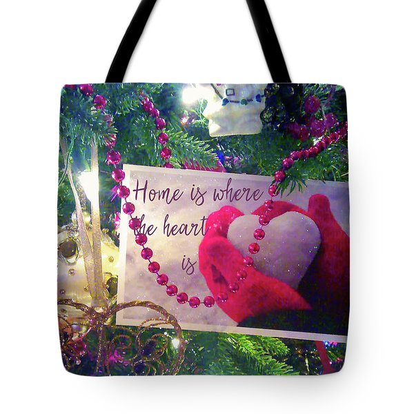 Tote Bag featuring the photograph Home Is Where The Heart Is by Toni Hopper