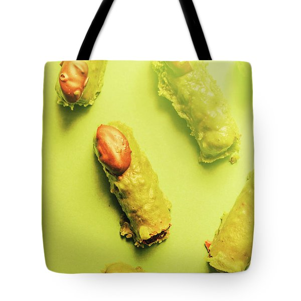 Home Made Severed Finger Halloween Candies Tote Bag