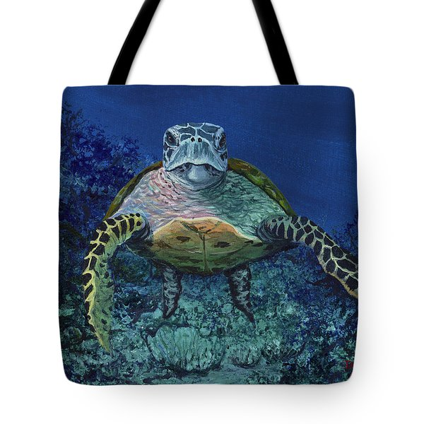 Tote Bag featuring the painting Home Of The Honu by Darice Machel McGuire