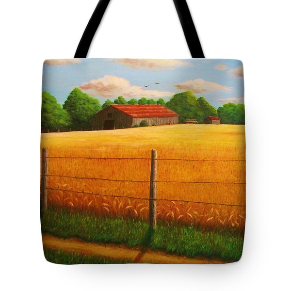 Home On The Farm Tote Bag by Gene Gregory