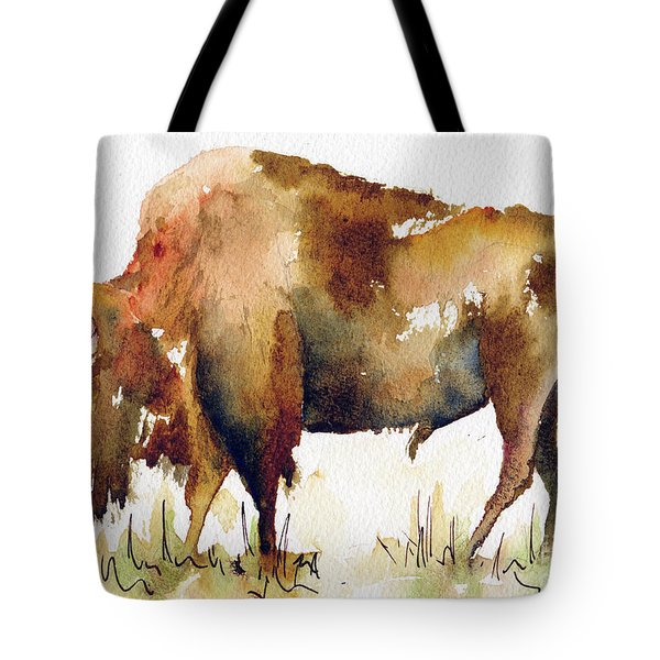 Home On The Range Buffalo Tote Bag