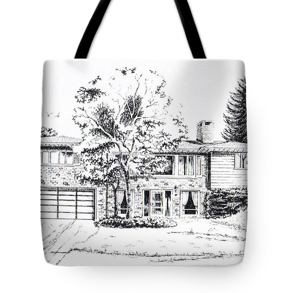 Home Portrait Tote Bag