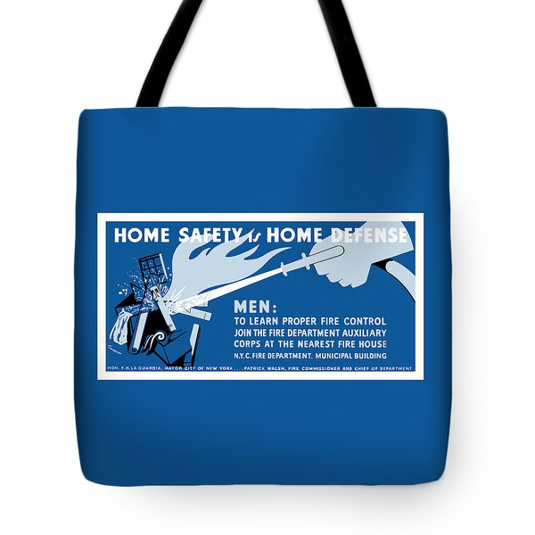 Home Safety Is Home Defense Tote Bag by War Is Hell Store