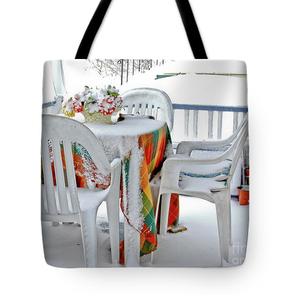 Home Sweet Frozen Home Tote Bag by Carol F Austin