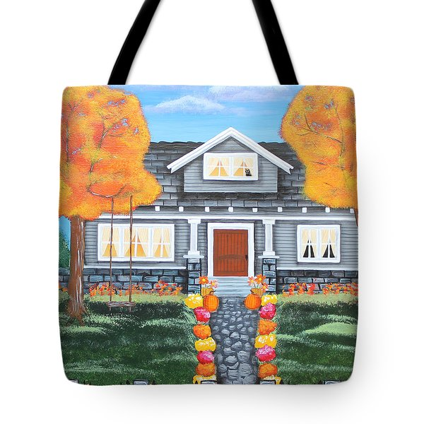 Home Sweet Home - Comes Autumn Tote Bag