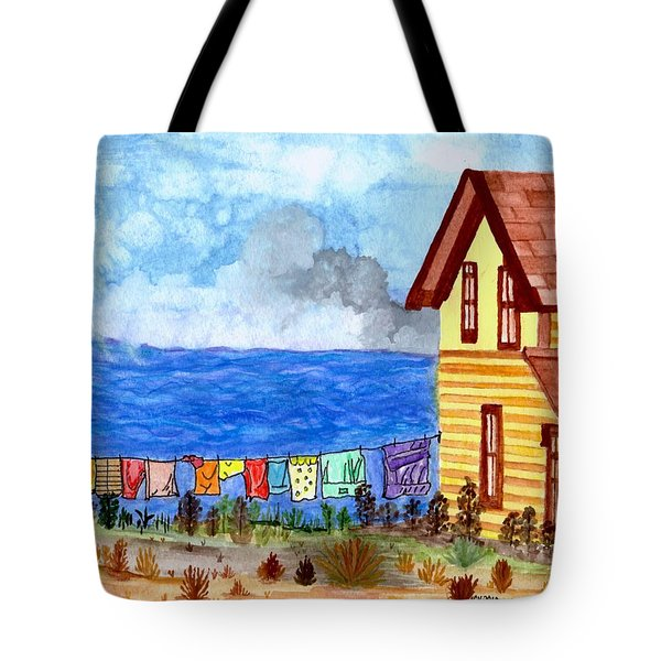 Tote Bag featuring the painting Home Sweet Home by Connie Valasco