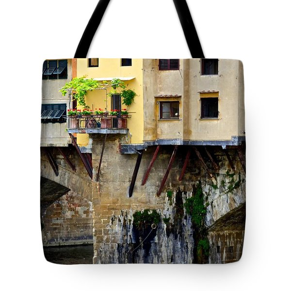 Home Sweet Home On The Ponte Vecchio Tote Bag