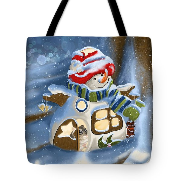 Tote Bag featuring the painting Home Sweet Home by Veronica Minozzi