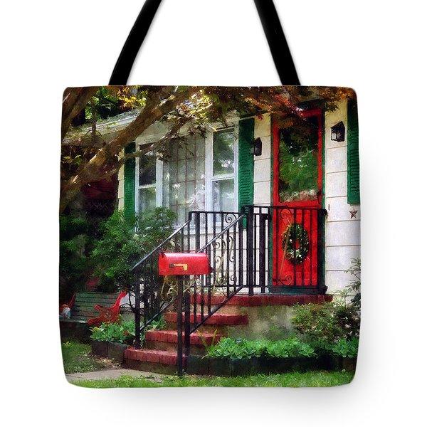 Home That Always Celebrates Christmas Tote Bag by Susan Savad