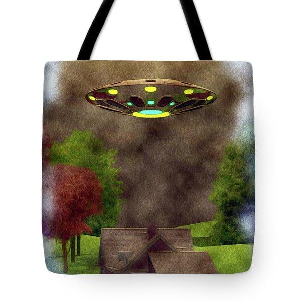 Home Visit - Ufo Invasion Tote Bag