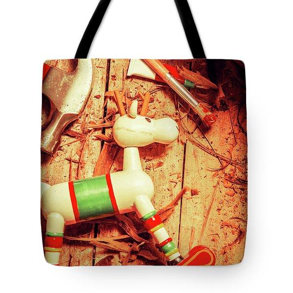 Homemade Christmas Toy Tote Bag