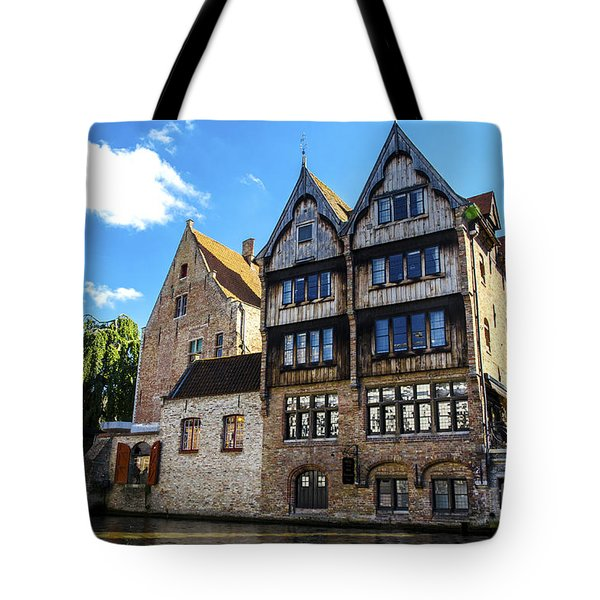 Tote Bag featuring the photograph Homes Of Bruges by Pravine Chester