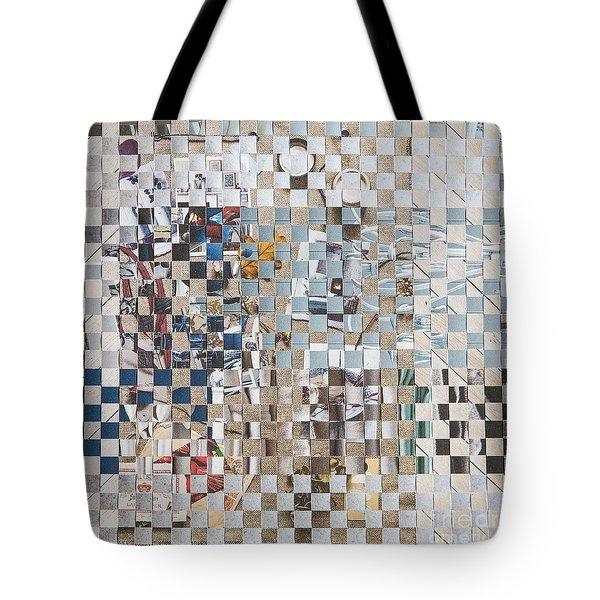 Tote Bag featuring the mixed media Homespun by Jan Bickerton
