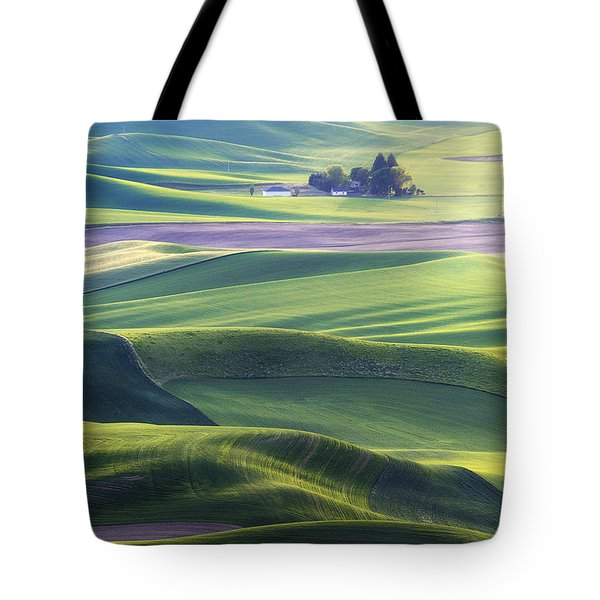 Homestead In The Hills Tote Bag by Ryan Manuel