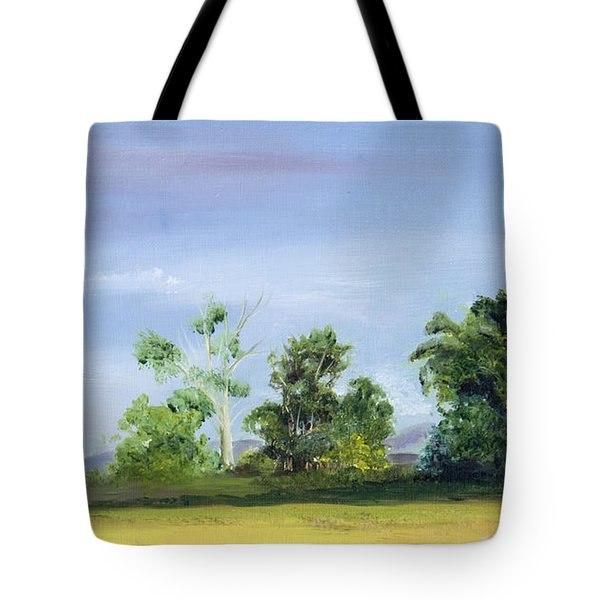 Tote Bag featuring the painting Homestead by Jane Autry