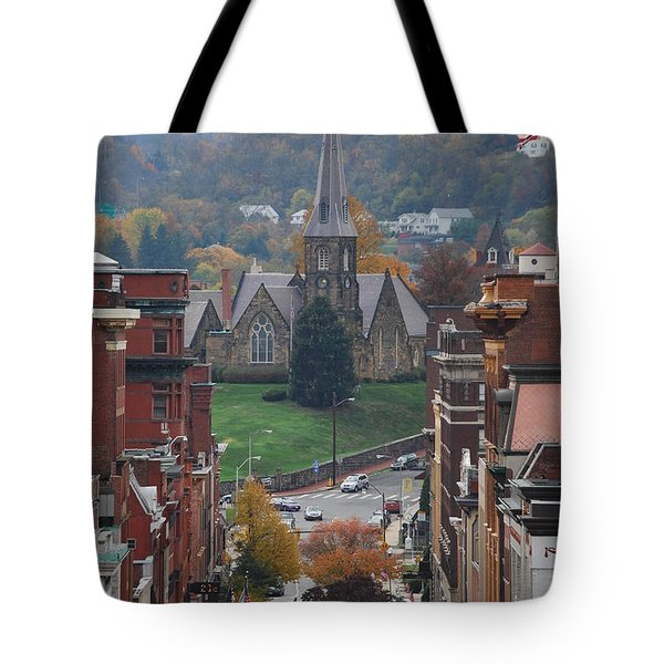 Tote Bag featuring the photograph My Hometown Cumberland, Maryland by Eric Liller