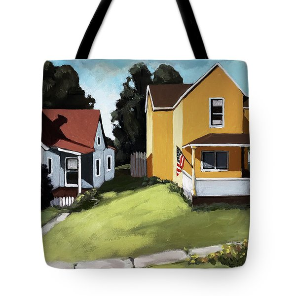 Hometown - Urban Scene Oil Painting Tote Bag
